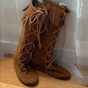 Minnetonka Tall Boots. Size  10